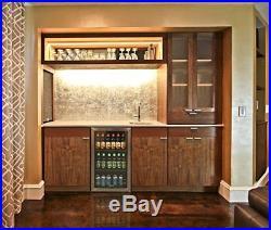 126 Can Cooler Bottle Storage Chiller Metal Racks Led Light Mini Fridge Cellar