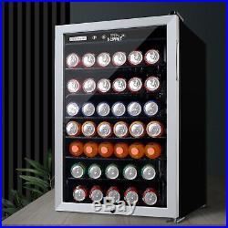 150 Cans Mini Fridge Beverage Cooler Soda Beer Bar 4.5 Cu. Ft. Stainless Steel