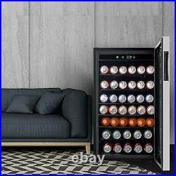 150 Cans Mini Fridge Beverage Soda Beer Cooler Bar Stainless Steel 4.5 Cu. Ft
