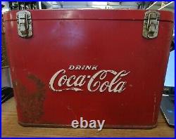 1940's Coca-cola Airline/ Suitcase Metal Cooler
