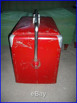 1950's DRINK Coca-Cola Metal Soda Bottle Cooler, Progress Refrigerator Co. WOW