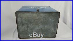 1950's Metal Pepsi Cooler with Tray Original Condition