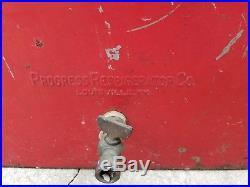 1950's RED ROCK COLA Drink Metal Picnic Cooler Progress Ref. Co Louisville KY