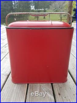 1950's Vintage Pleasure Chest Metal Cooler