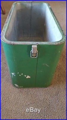 1950's Vintage Pleasure Chest Pal Metal Cooler