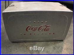 1950's Vintage TradeMark Coca-Cola Drink coca-Cola in Bottles Metal Cooler