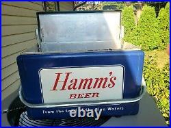 1950s VINTAGE Metal HAMMS BEER COOLER-ORIGINAL CRONSTROMS St Paul MN