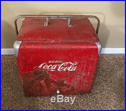 1950s Vintage Retro Coca Cola Metal Cooler