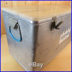 1960's Hamm's Beer Large Vintage Metal Gray 31 Cooler