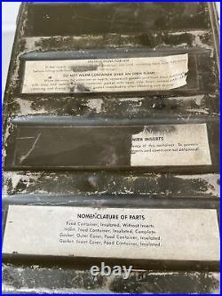 1974 US Military Wyott Food Metal Storage Cooler