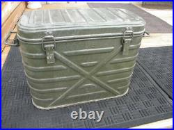 1974 Vtg US Military Wyott Food Cooler 3 Metal Storage Containers Complete