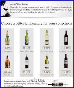 28 Bottles Compressor Wine Cellar Cooler Chiller Refrigerator Freestanding Metal