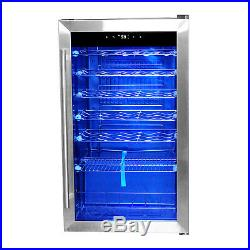 28 Bottles Compressor Wine Cellar Fridge Cooler Chiller Glass Door Metal Shelf