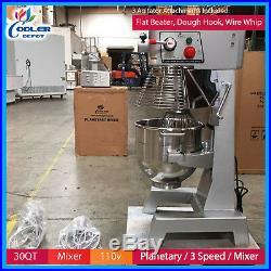 30 Qt NSF Commercial Dough Food Mixer Gear Driven Pizza Bakery Cooler Depot New