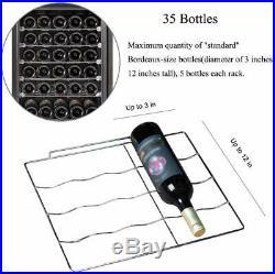 35 Bottles Compressor Wine Cooler Fridge Refrigerator Chiller Cellar Metal Steel