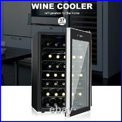 35 Bottles Cooler Wine Fridge Refrigerator Chilling Cellar Bar-Metal Rack Black