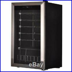 35 Bottles Thermoelectric Wine Cooler Refrigerator Chiller Cellar Metal Shelves