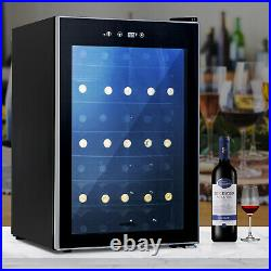 35 Bottles Wine Fridge Cooler Refrigerator Chilling Cellar Bar with Metal Rack