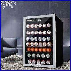 4.5 Cu. Ft. Mini Fridge Beverage Cooler 150 Cans Single Door Bar Stainless Steel