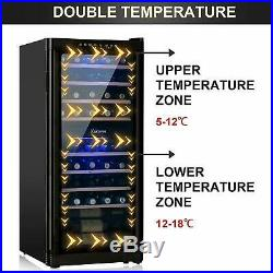 48 Bottles Thermoelectric Wine Cooler Fridge Refrigerator Chiller Cellar Metal