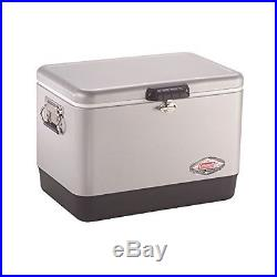54-Quart Steel-Belted Cooler, Silver, Holds 85 cans, Outdoor