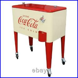 60 Qt. Cream Coca-Cola Cooler