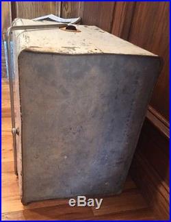 7-up Metal Soda Pop Bottle Cooler, Ice Chest, Vintage, Sign, Picnic, Antique