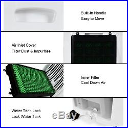 7L Evaporative Portable Air Cooler Fan and Humidifier With Filter Remote Control