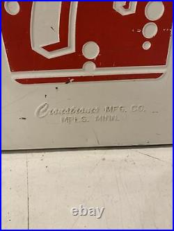 7up Vintage metal Cooler picnic 19W x 14H Soda Pop Cronstrom Mpls Mn chest