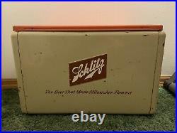 AMAZING Vintage Rare Schlitz Beer Metal Picnic Cooler Milwaukee Cronstroms MN
