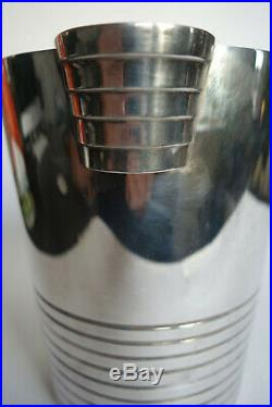 ART DECO VINTAGE ICE BUCKET wine cooler Ralph Lauren LUC LANEL christofle style