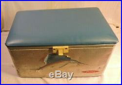 American Camping Supplies Cronco Cooler Box Aluminum, Vintage, 1950's NICE Large