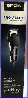 Andis Pro Alloy XTR Adjustable Blade Clipper Black / Silver / Cooler #69100 NEW