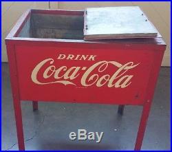 Antique Coca Cola Metal Cooler FREE SHIPPING ORIGINAL CONDITION EXCLUSIVE PARTS
