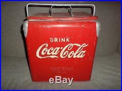 Antique Coca Cola Metal Ice box Cooler TempRite Mfg. Co. Arkansas City