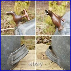Antique Galvanized Metal Water Cooler Hayden Company Haydenville Mass Dispenser