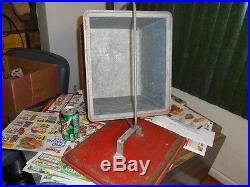 Antique Metal Cooler Vintage Cola Cooler Ice Chest Rustic Decor Camping Fishing