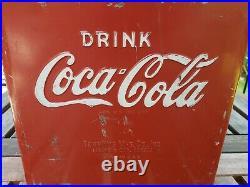 Antique / Vintage 1950's Coca Cola metal cooler by TempRite Mfg Co