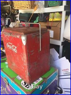 Antique/ Vintage Metal Coca Cola Cooler Collectable Cool