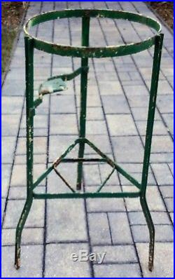 Antique iron stand stoneware crock water cooler holder metal vintage farmhouse