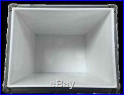 BEERloved 13qt Retro Metal Ice Chest/Cooler, Gray