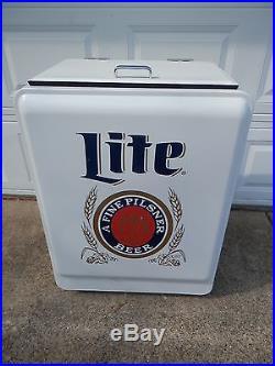 Brand New Miller Lite Metal Cooler Ice Chest