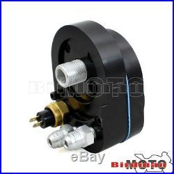 Black Reefer Oil Cooler Fan Cooling System For Harley FLHX FLHR FLTR FLHT 93-17