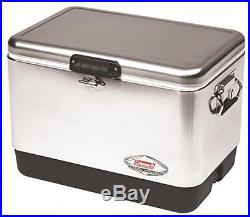 Camping Gear Steel Cooler Outdoor Recreation Picnic Ice Chest Large Qt Coleman