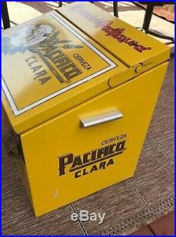 Cerveza Pacifico Clara Beer Insulated Ice Chest Cooler galvanized liner Metal