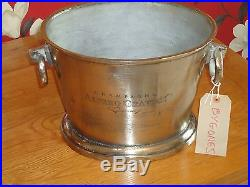 Champagne Ice Bath Chunky Cast Metal Silver Nickel Finish Wine Cooler/Bucket