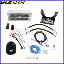 Chrome Ultracool The Reefer Oil Cooler Fan Cooling System For Harley Touring new