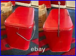 Coca-Cola 1950's Metal Progress Picnic Cooler A2 Sandwich Box withCardboard Box