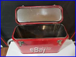 Coca-Cola Airline Cooler Gas Oil Soda Minty Metal Drink Suitcase Vintage Rare