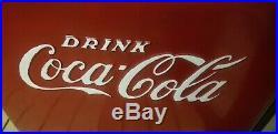 Coca Cola Cooler Ice Store Soda Pop Metal Coke Antique Westinghouse Repainted